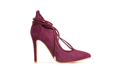ROSA Red D'orsay Stilettos Pumps