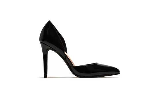 Black Patent Classic Stilettos Pumps
