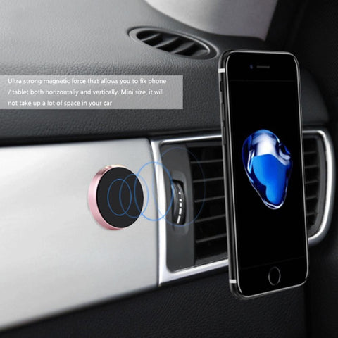 Universal Magnetic Car Phone Holder Mini Bracket Stand for Samsung Accessories / GPS / iPhone