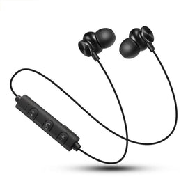 Stereo Subwoofer Bluetooth Earphones Bluetooth 4.2 In-ear Magnetic Headsets Noise Cancelling Super Bass Headphones Sweatproof Sports Running Earbuds With Mic Hands-free Call Voice Prompt
