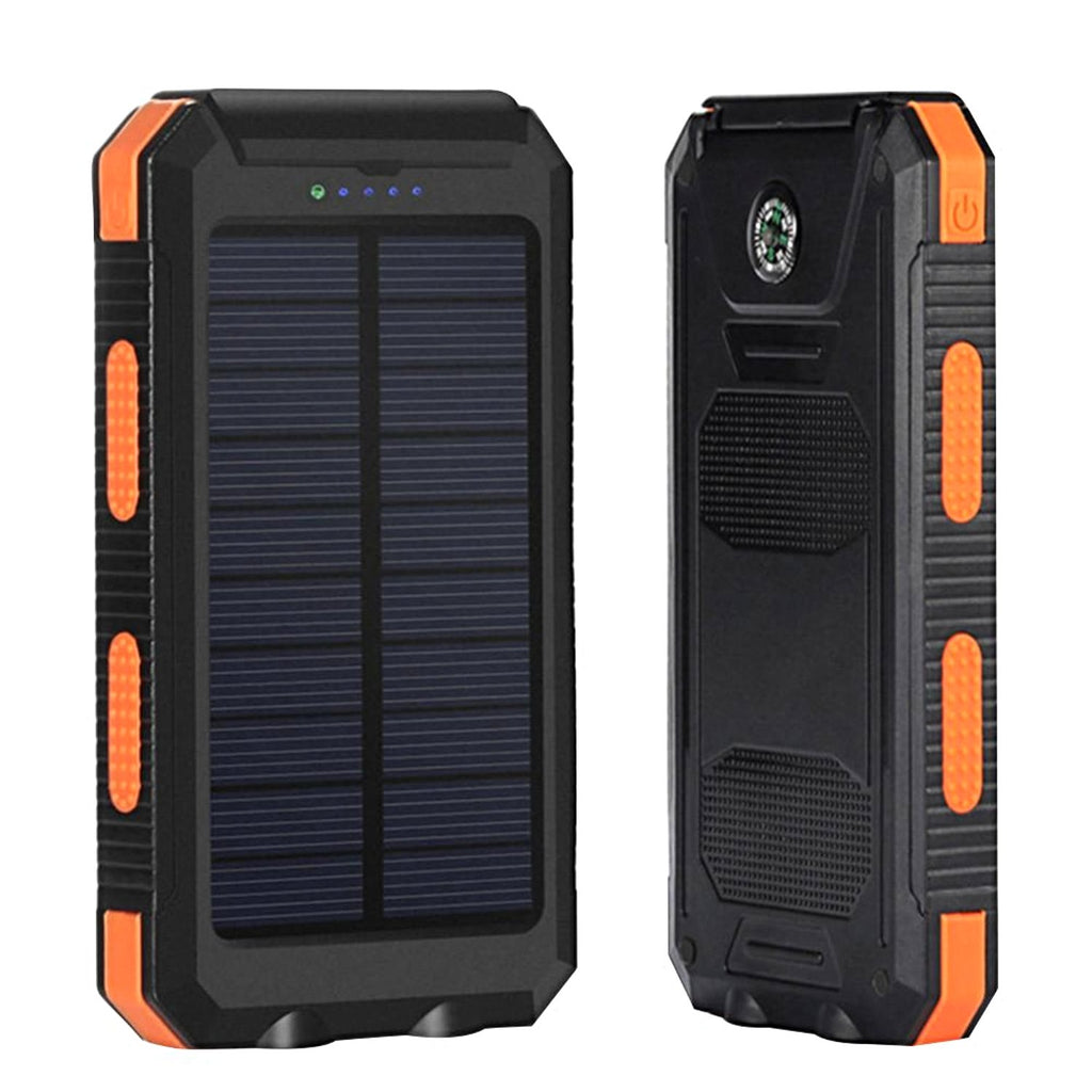 Universal Waterproof 8000mAh Solar Power Bank Dual Portable Charger for Phones