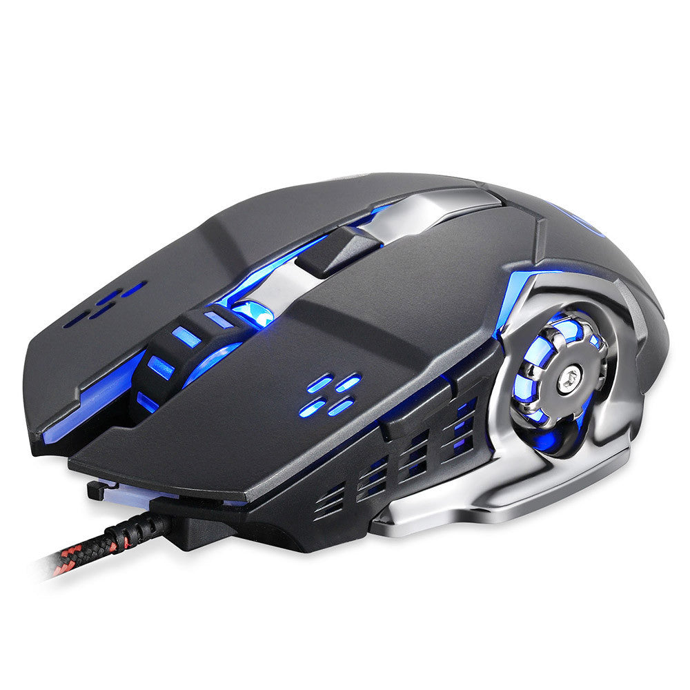 Wired LED Light Optical 1600DPI Gaming Mute Mouse Mice for PUBG