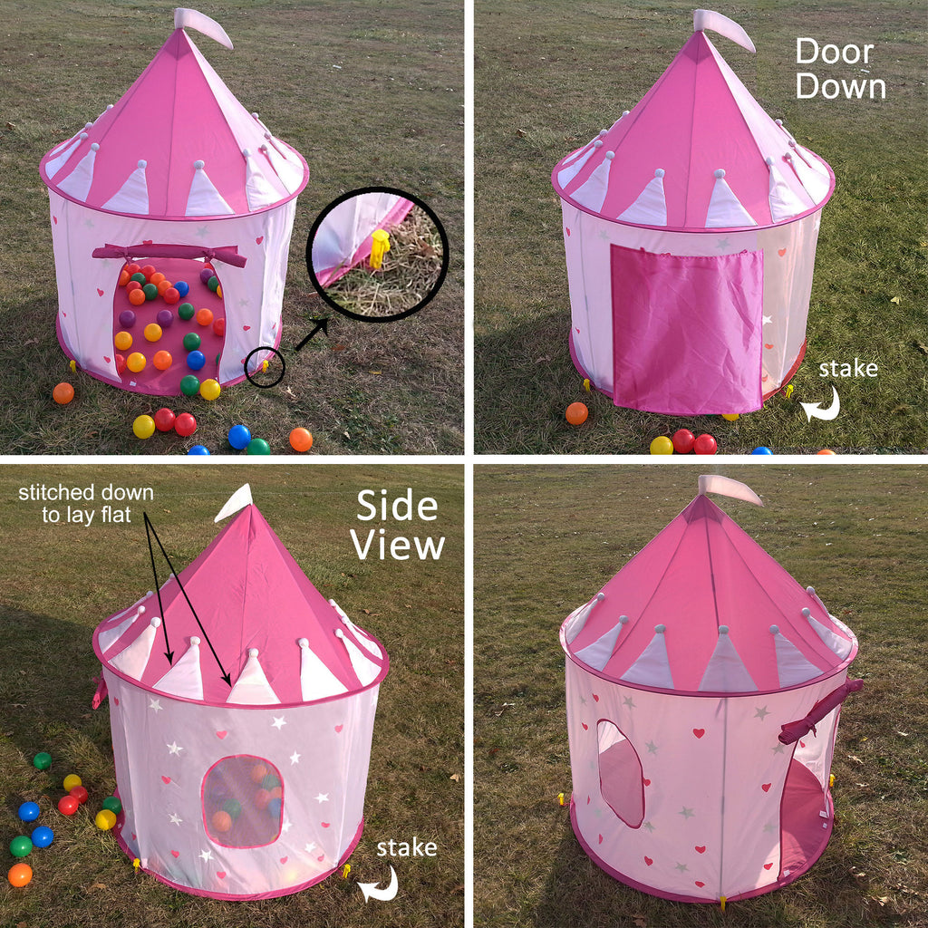 ... Children Pink Princess Castle Playhouse Play Tent For Girls Indoor/Outdoor w/Stakes ... & Big Children Playhouse Pop-Up Play Tent for Boys/Girls Indoor ...