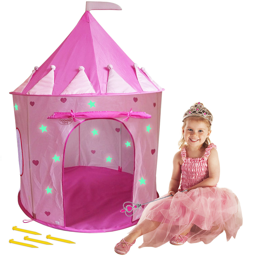 Children Pink Princess Castle Playhouse Play Tent For Girls Indoor/Outdoor w/Stakes ...  sc 1 st  WooHoo Toys & Big Children Playhouse Pop-Up Play Tent for Boys/Girls Indoor ...