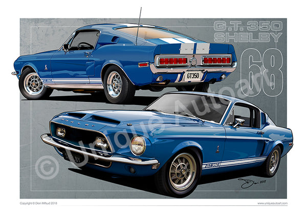 1968 Shelby GT350 Drawing