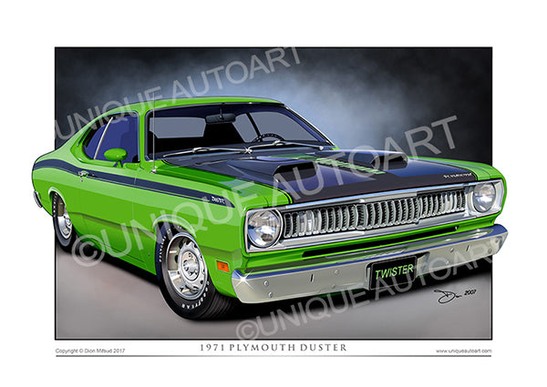 1971 Plymouth Duster Automotive Art