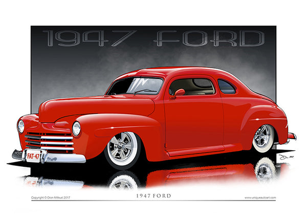 1947 Ford Coupe Automotive Illustration