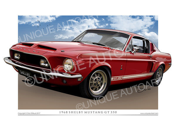 1968 Shelby GT500 Print