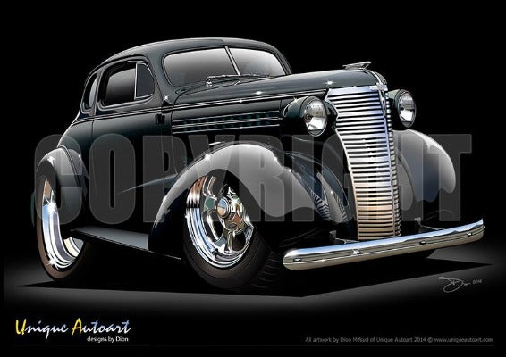 1938 Chevrolet Coupe-Black