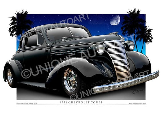 1938 Chevy Coupe- Black