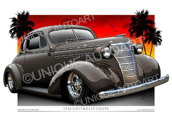 1938 Chevy Coupe- Brookwood Beige
