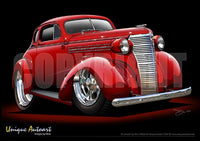 Chevy Art-Custom Red