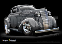 1938 Chevy Coupe-Gunmetal
