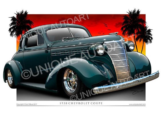 1938 Chevy Coupe- Spruce Green