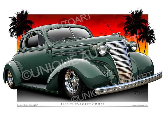 1938 Chevrolet Coupe- Terrace Green
