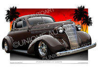 1938 Chevy Canvas Prints - Woodleaf Brown