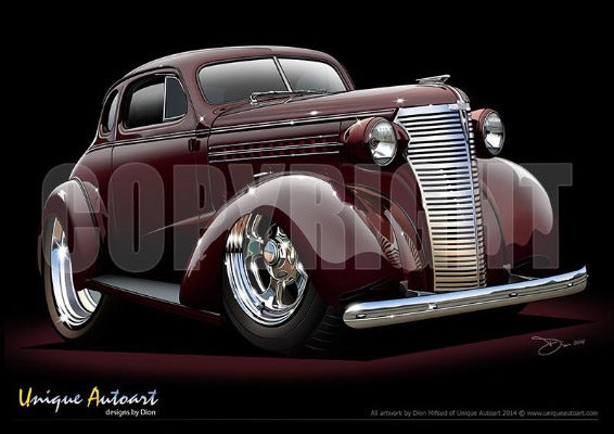 1938 Chevrolet Coupe- York Shire Maroon