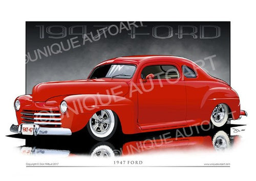 1947 Ford Coupe- Car Drawings (unframed)