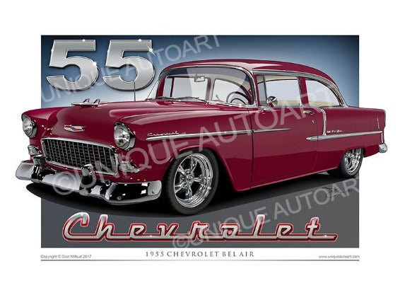 1955 Chevrolet Bel Air - Copper Maroon