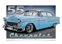 1955 Chevrolet- Skyline Blue