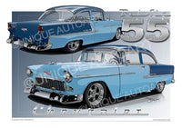 1955 Chevrolet Bel Air- SKYLINE BLUE