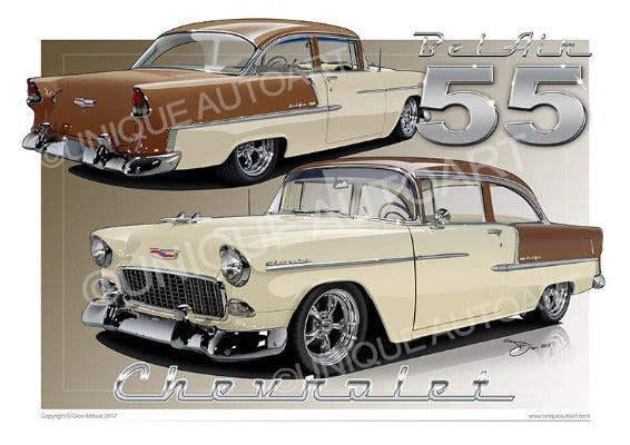 1955 Chevrolet Bel Air- SHORELINE BEIGE