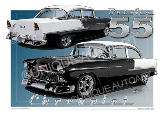 1955 Chevrolet Bel Air- ONYX BLACK