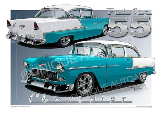 1955 Chevrolet Bel Air- Regal Turquoise