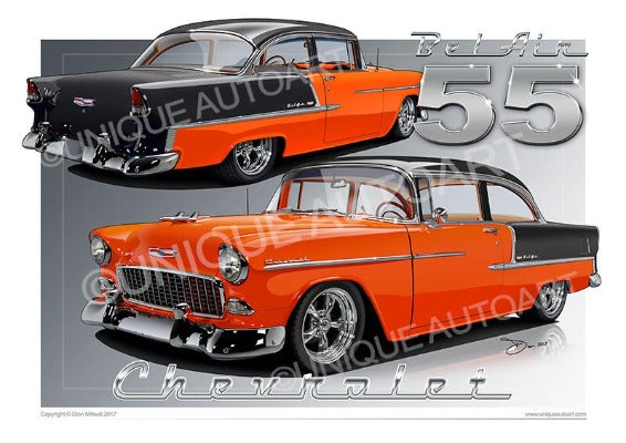 1955 Chevrolet Bel Air- ORANGE