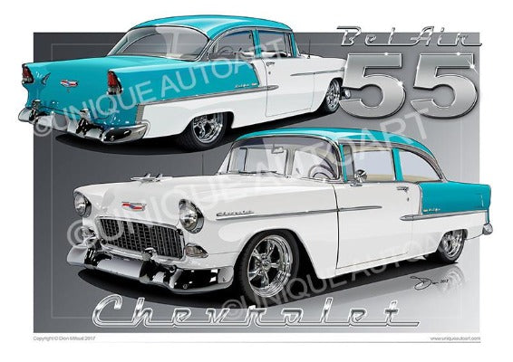 1955 Chevrolet Bel Air- INDIA IVORY