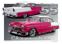 1955 Chevrolet Bel Air- MAGENTA