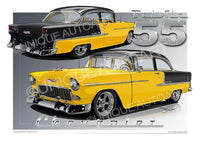 1955 Chevrolet Bel Air- Yellow