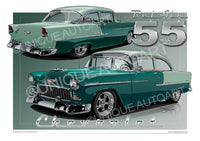 1955 Chevrolet Bel Air- NEPTUNE GREEN