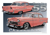 1955 Chevrolet- Car Drawings