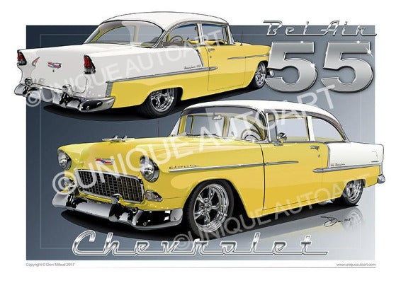 1955 Chevrolet Bel Air- Harvest go