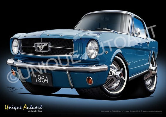 Mustang Art designs - GUARDSMAN BLUE