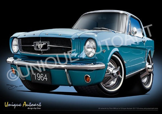 Mustang- TWILIGHT TURQUOISE
