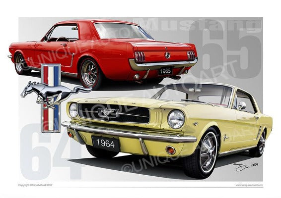 Mustang Coupe Prints