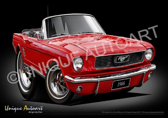 Ford Mustang Convertible CANDY APPLE RED