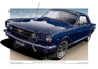 1966 Mustang- Nightmist Blue