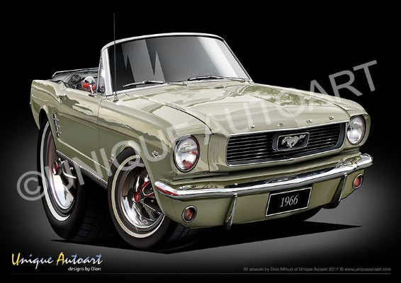 1966 Mustang Convertible SAUTERNE GOLD