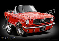 Mustang Convertible SIGNAL FLARE RED