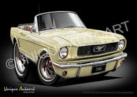 66 Mustang Convertible SPRINGTIME YELLOW