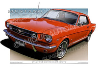 1966 Mustang- Signal Flare Red