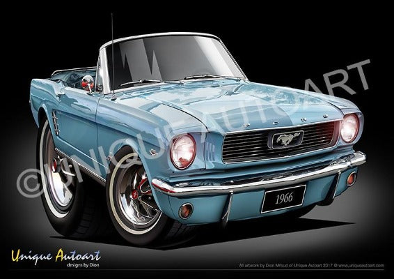 1966 Mustang Convertible TAHOE TURQUOISE