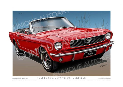 1966 Mustang Convertible - Candy Apple Red