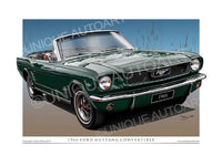1966 Mustang Convertible- Ivy Green