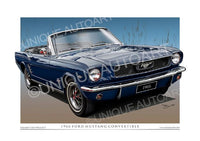 1966 Mustang Convertible- Nightmist Blue