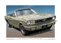 1966 Mustang Convertible- Sauterne Gold