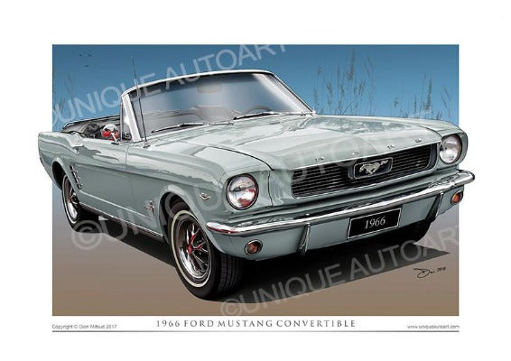 1966 Mustang Convertible Drawigns - Silver Frost